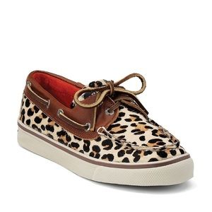 Sperry Top Sider Cheetah Print Boat Shoe Slip On